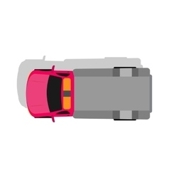 Car Van Top View Flat Design vector image