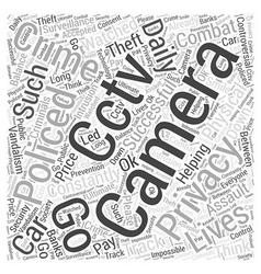 cctv cameras Word Cloud Concept vector image vector image