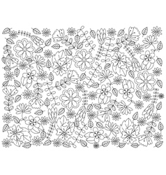 Floral ornament coloring book vector image vector image