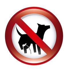 forbidden dog design vector image