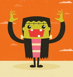 Frankenstein vector image vector image