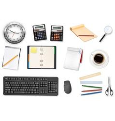 mega office supplies set vector image