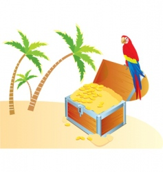 treasure parrot color vector image vector image