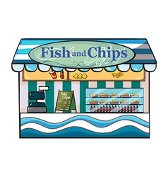 A fish and chips shop vector image