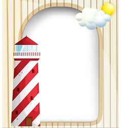 A lighthouse in front of an empty template vector image
