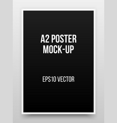 a2 black poster mock-up vector image