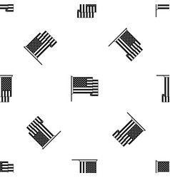 American flag pattern seamless black vector