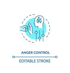 Anger control concept icon vector