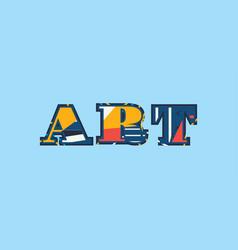 Art concept word art vector
