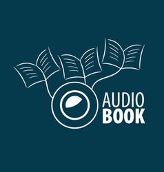 Audiobook logo template vector