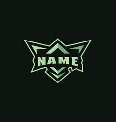 badges logo mascot for sports logo vector image