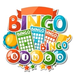 bingo or lottery game background with balls vector image