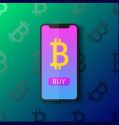 Bitcoin digital wallet flat icon design symbol vector