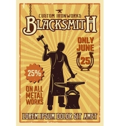 Blacksmith Yellow Poster vector image