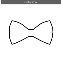 bow tie icon isolated flat vector image