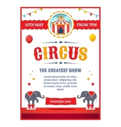 Cartoon circus poster vector