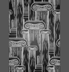classical pattern of ancient columns vector image