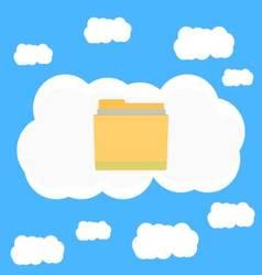 Cloud data in sky vector image
