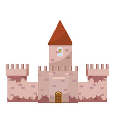 Colorful castle icon cartoon style vector