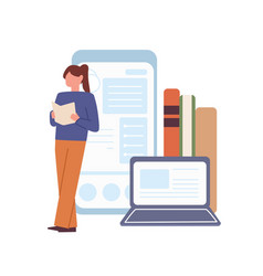 concept modern online education student vector image