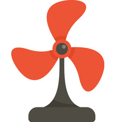 cooling fan icon flat isolated vector image