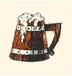 craft beer wooden pub sketch vector image