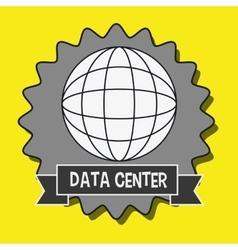 Data center global world vector