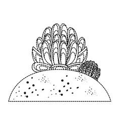Desert plant draw vector