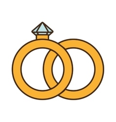 diamond ring isolated icon vector image