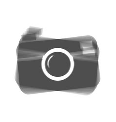 digital photo camera sign gray icon vector image