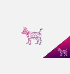 dog logo design abstract line forming a vector image