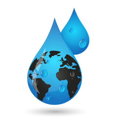 earth in a drop of water vector image
