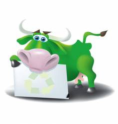 eco cow vector image