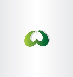 eco green letter w logo logotype sign vector image