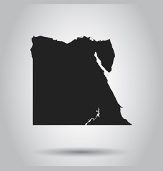 egypt map black icon on white background vector image