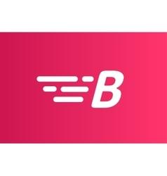 Fast line logo b monogram icon vector