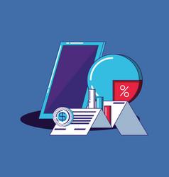 financial technology design vector image