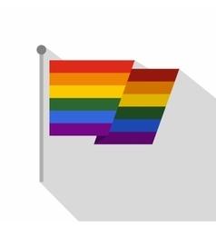 Flag lgbt icon flat style vector