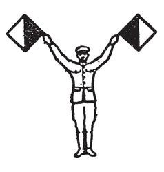 flag signal for letter u vintage vector image