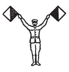 Flag signal for the letter u vintage vector