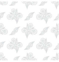 Flowers hand drawn on white background hand drawn vector