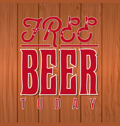 Free beer offer poster vector
