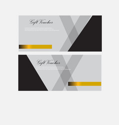 gift voucher template with market special offer vector image