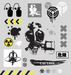 grunge graphic objects vector image