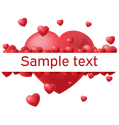 heart white background border text vector image