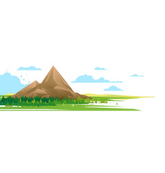 high mountain in forest nature vector image