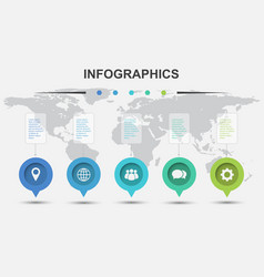 infographic design template with marker elements vector image