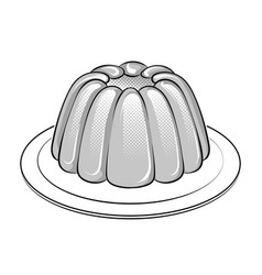Jelly dessert coloring book vector