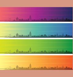 khartoum multiple color gradient skyline banner vector image
