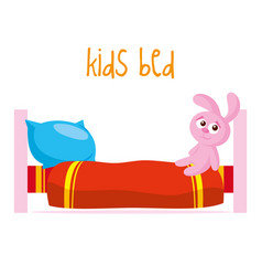 Kids bed vector